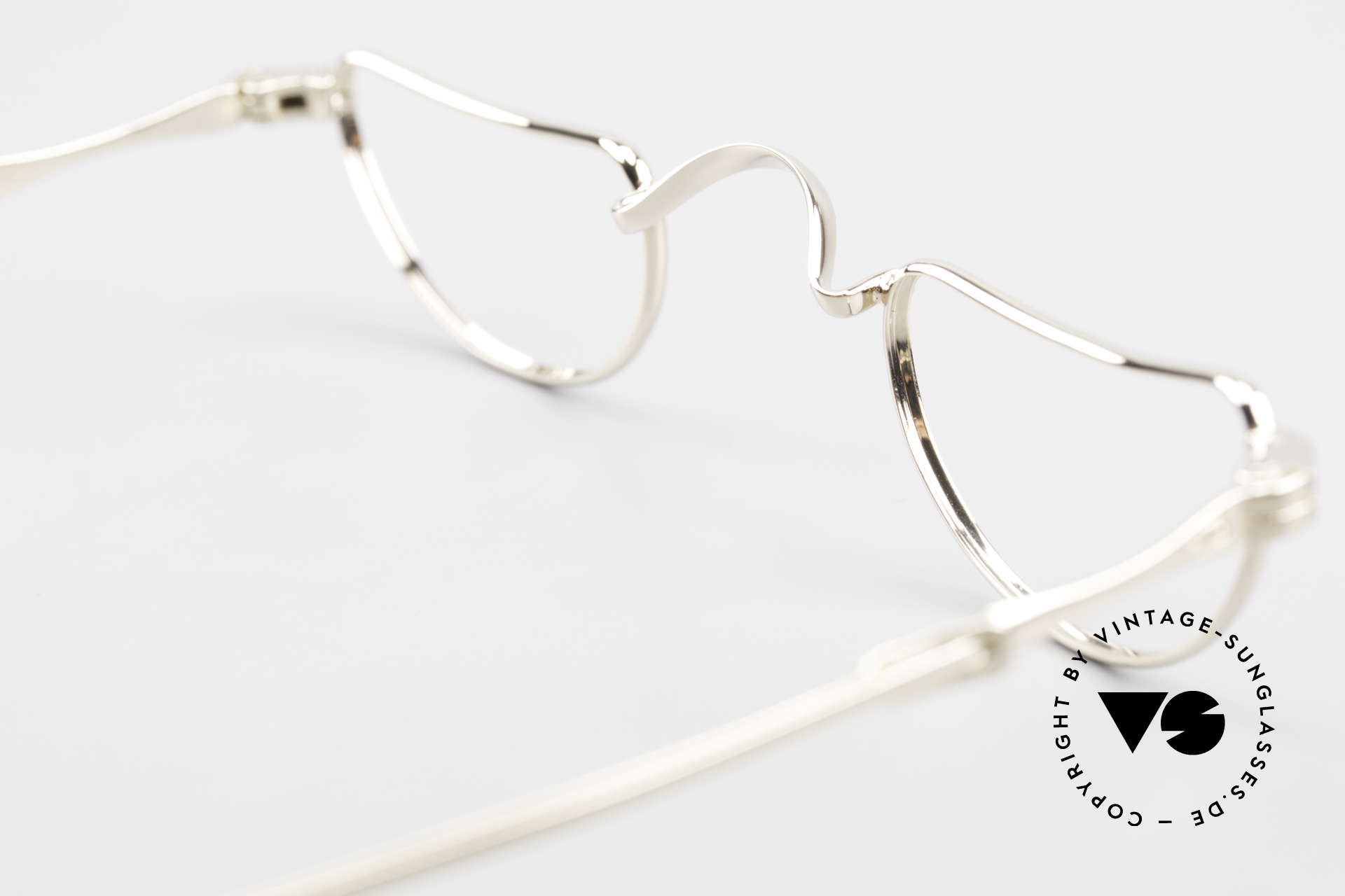 Lunor Goldbrille Solid Gold Glasses 16ct Frame, Size: extra small, Made for Men and Women