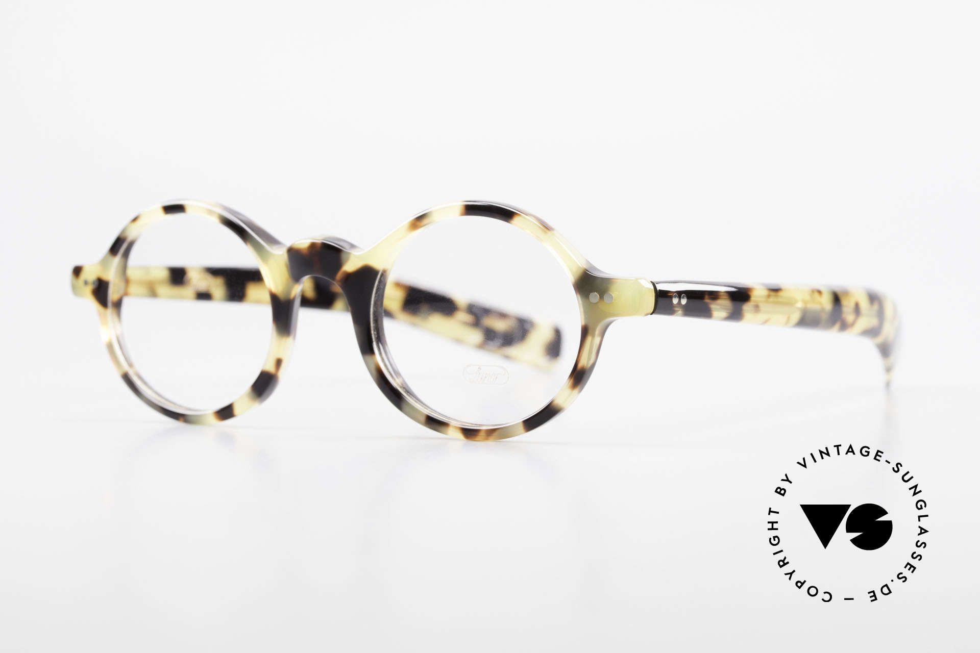 """Lunor A52 Oval Lunor Glasses Acetate, oval frame with a stylish """"TOKYO TORTOISE"""" pattern, Made for Men and Women"""