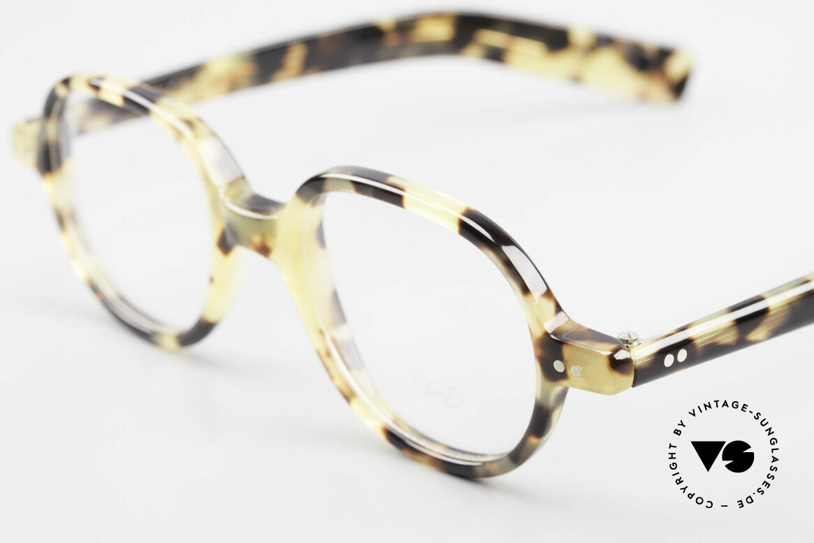 Lunor A50 Round Lunor Glasses Acetate, 100% made in Germany, hand-polished, a true CLASSIC, Made for Men and Women
