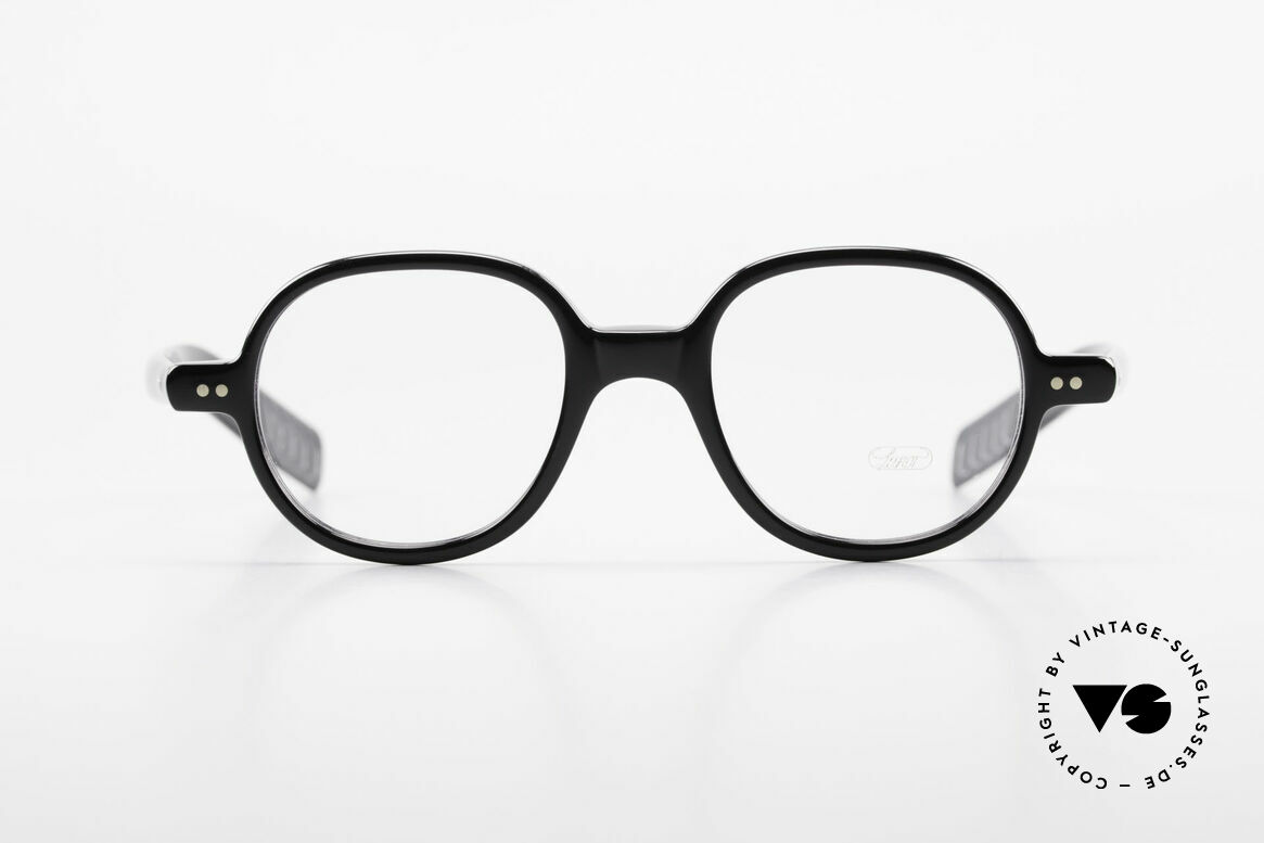Lunor A50 Round Lunor Acetate Glasses, riveted hinges; cut precise to the tenth of a millimeter, Made for Men and Women