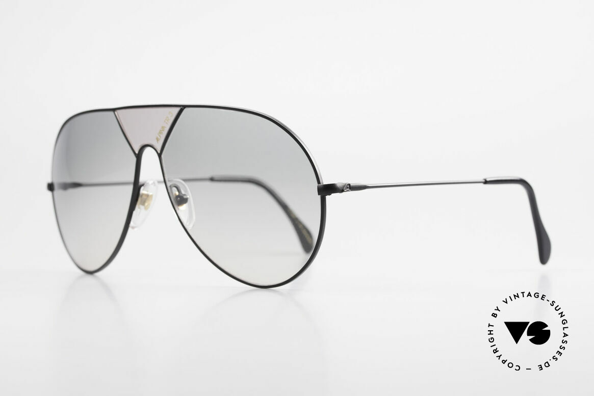 Alpina TR3 80's Sunglasses Limited Edition, a true rarity in XLarge size 64-14 (collector's item), Made for Men