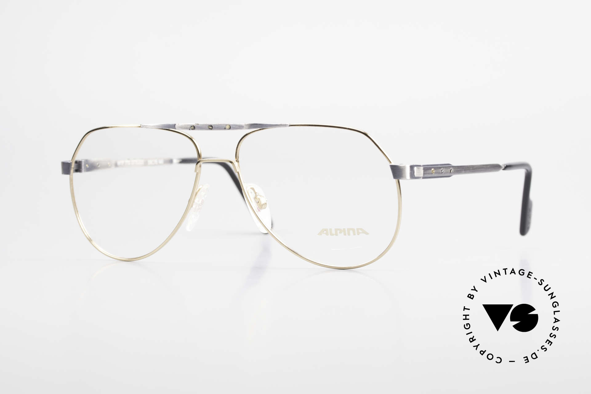 Alpina M1F770 Vintage Glasses Aviator Style, Alpina vintage glasses M1F770 in size 59/15, 140, Made for Men