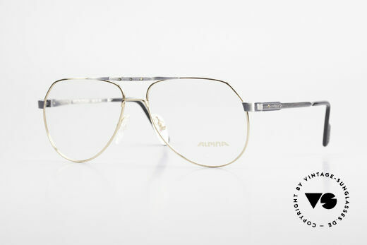 Alpina M1F770 Vintage Glasses Aviator Style Details