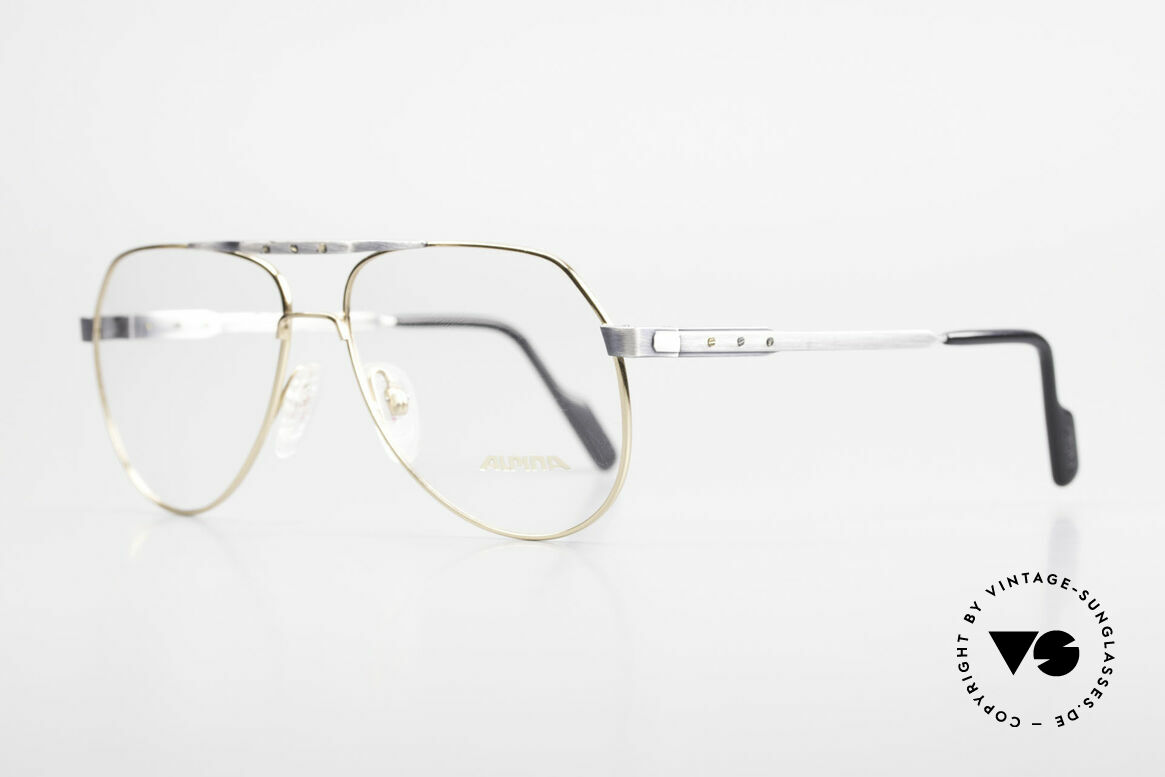 "Alpina M1F770 Vintage Glasses Aviator Style, a really interesting frame finish in ""vintage look"", Made for Men"