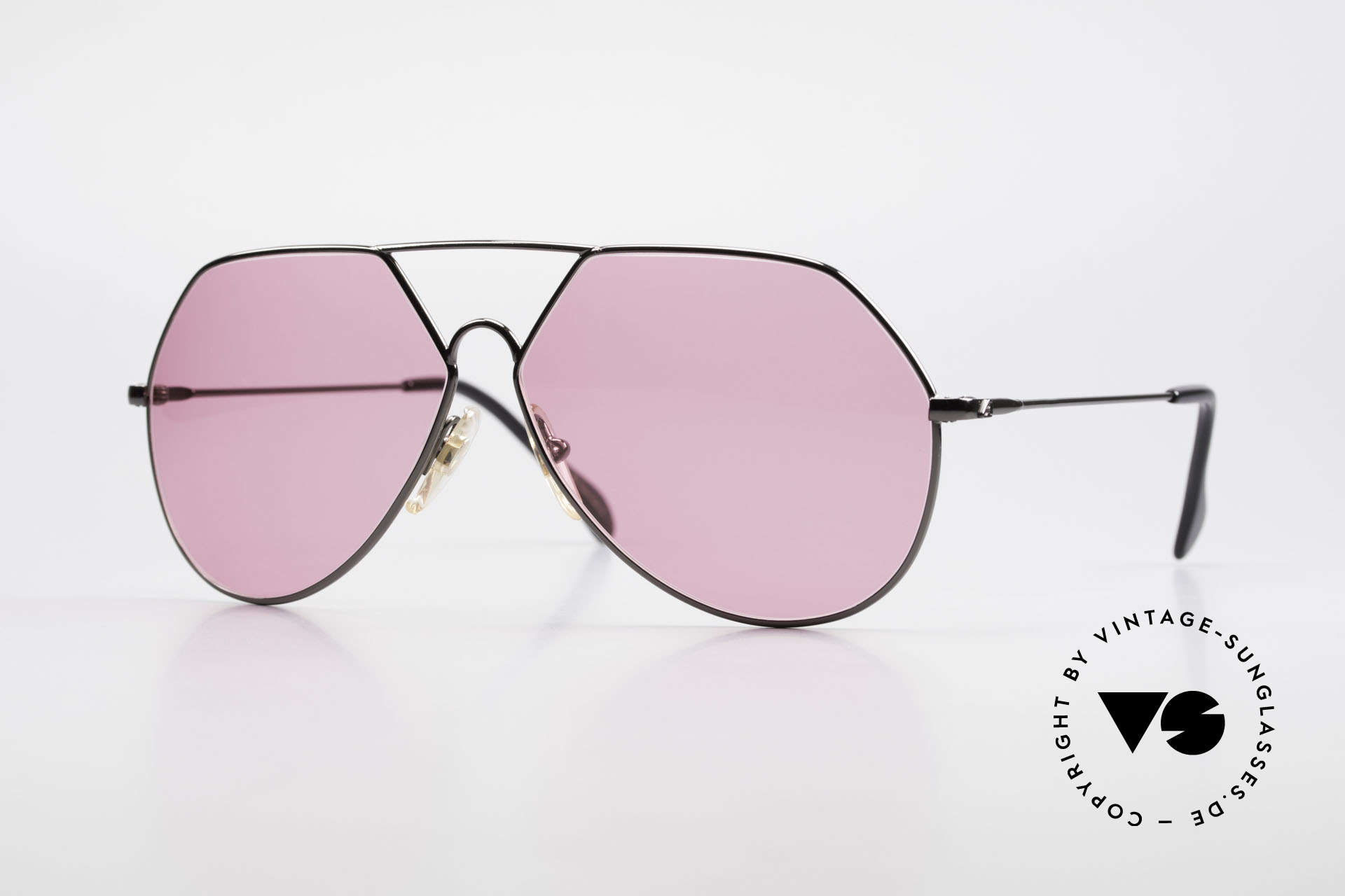 Alpina TR6 Old 80's Aviator Frame Pink, ultra rare old Alpina sunglasses from 1986/1987, Made for Men