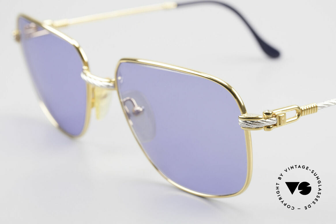 Fred Zephir Luxury Sailing Sunglasses Men, temples and bridge are twisted like a hawser; unique, Made for Men