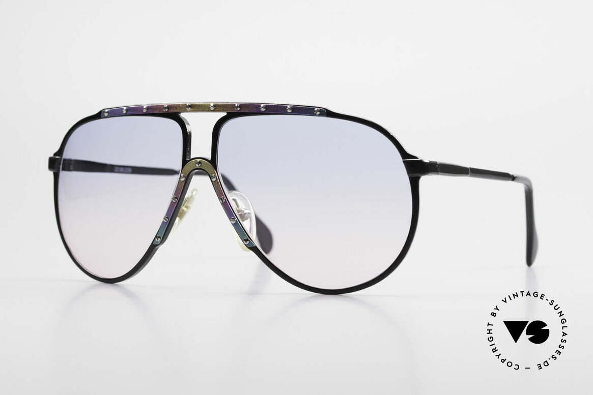 Alpina M1 Limited Titanium Edition 80's, legendary ALPINA M1 80's sunglasses in size 60-12, Made for Men and Women