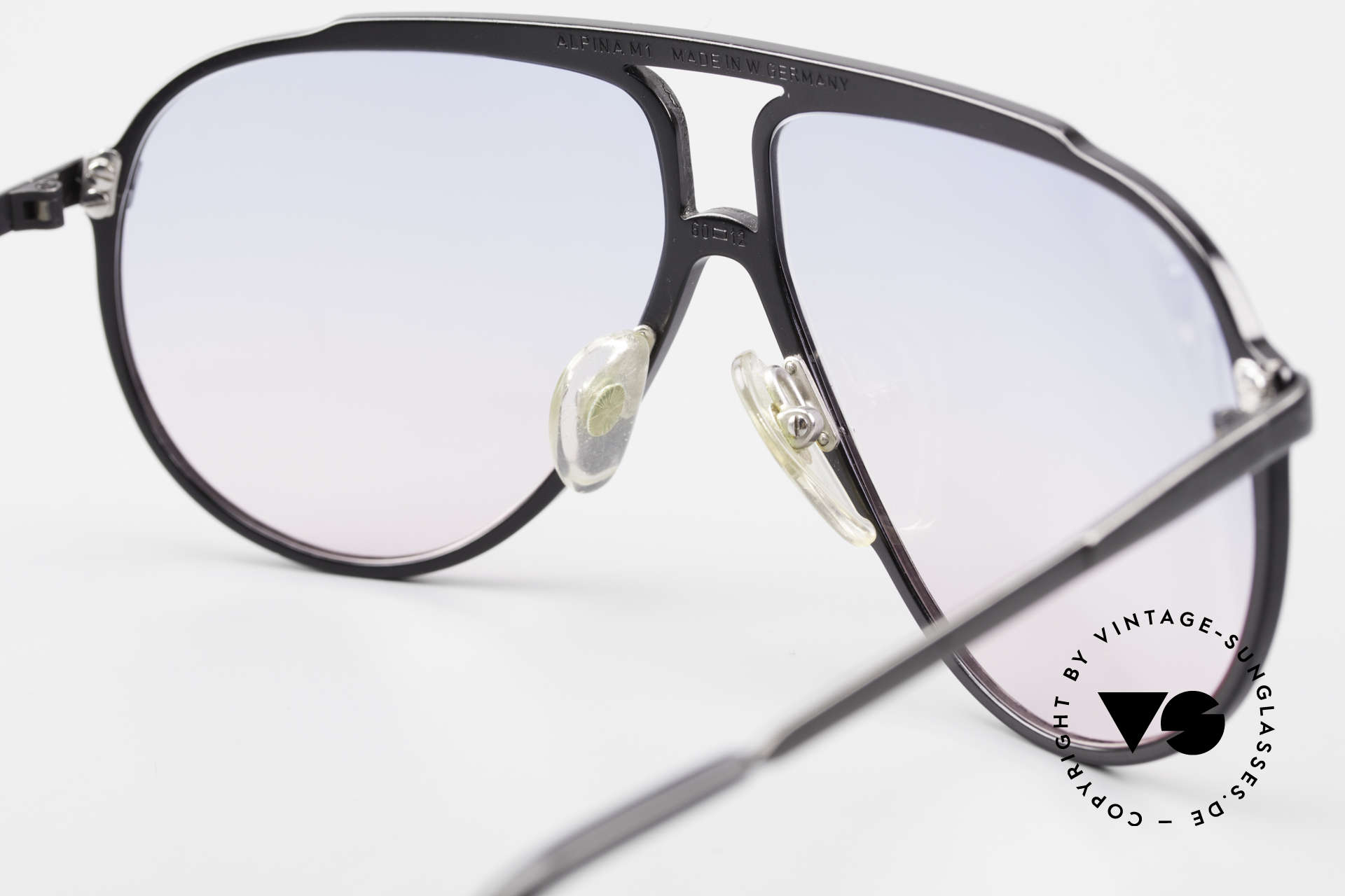 Alpina M1 Limited Titanium Edition 80's, NO RETRO sunglasses; the old ORIGINAL from 1987!, Made for Men and Women