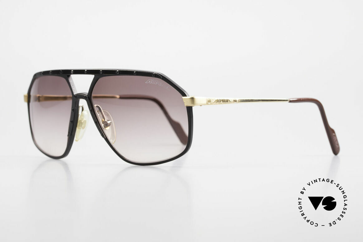 Alpina M6 Rare Vintage 80's Sunglasses, produced in many different variations; HANDMADE, Made for Men and Women