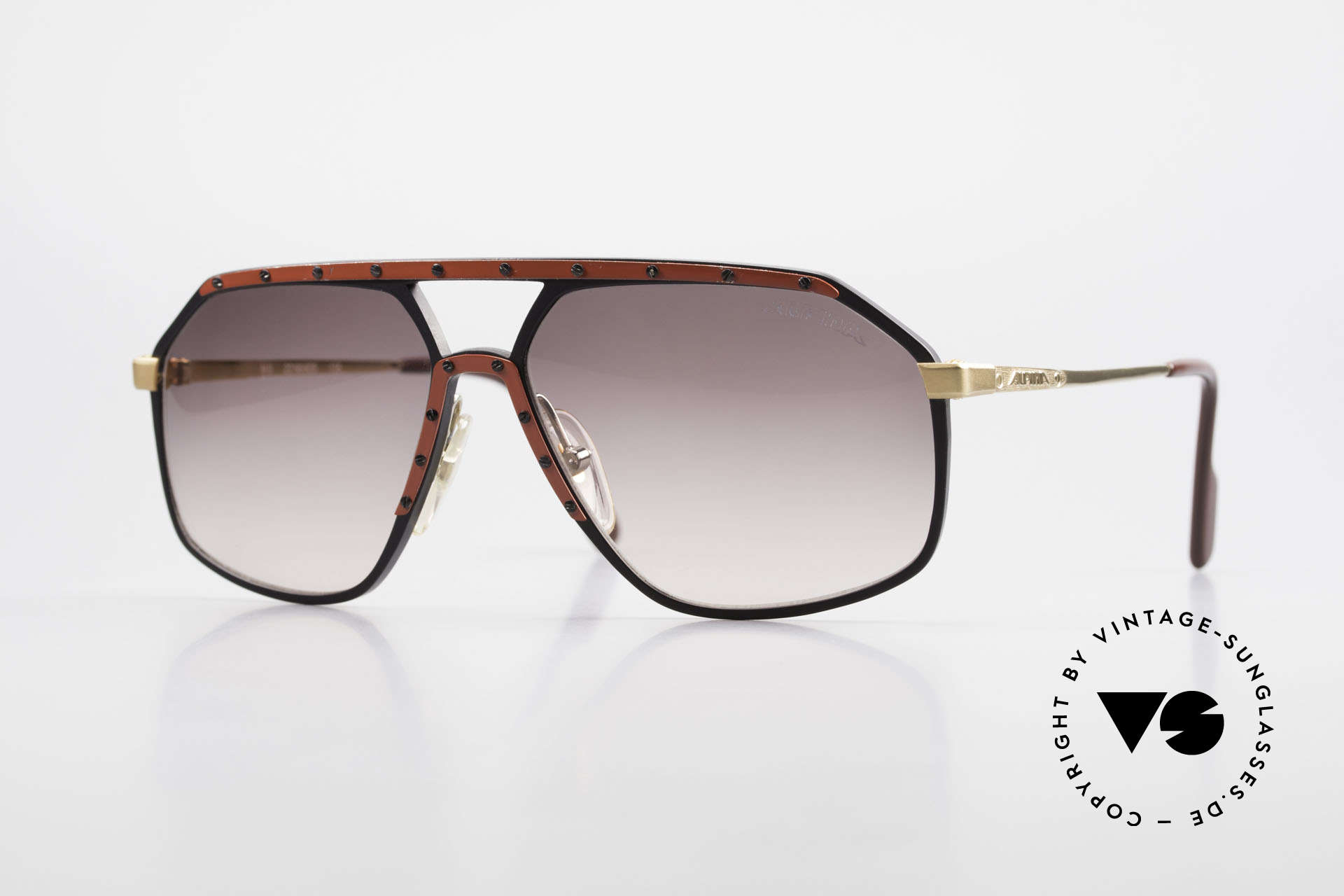 Alpina M6 Rare 80's Vintage Sunglasses, old Alpina M6 sunglasses in size 60/14, VINTAGE, Made for Men and Women