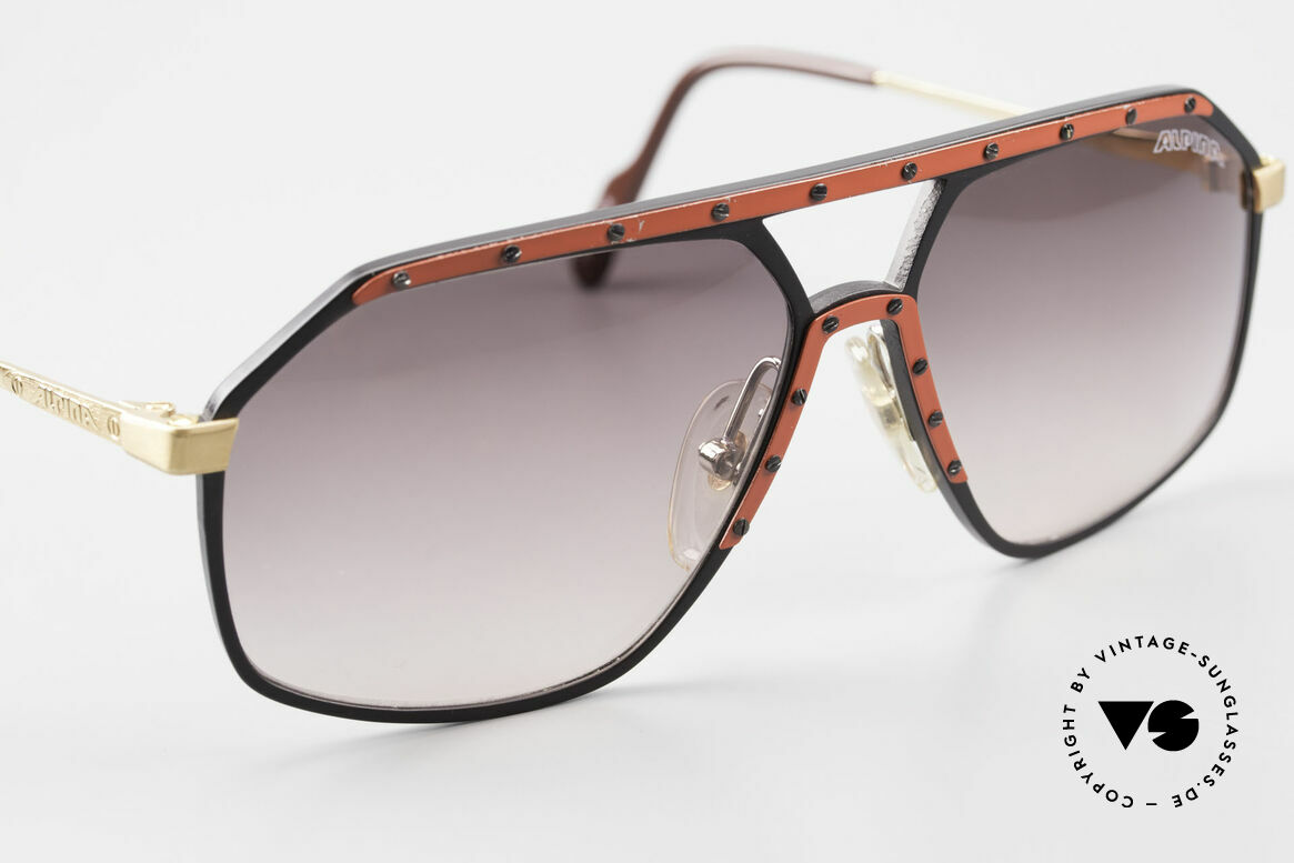 Alpina M6 Rare 80's Vintage Sunglasses, never worn, (comes with a hard case by BVLGARI), Made for Men and Women