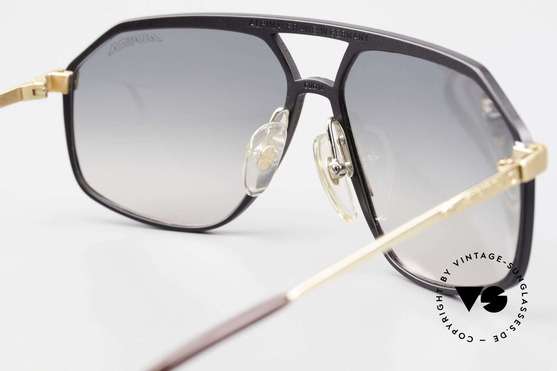 Alpina M6 True Vintage 80's Sunglasses, true rarity and sought-after collector's item, vertu, Made for Men and Women