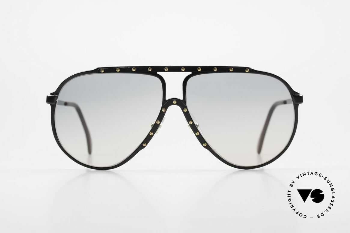 Alpina M1 Iconic Sunglasses of the 80's, black frame with golden screws: the most wanted M1, Made for Men and Women