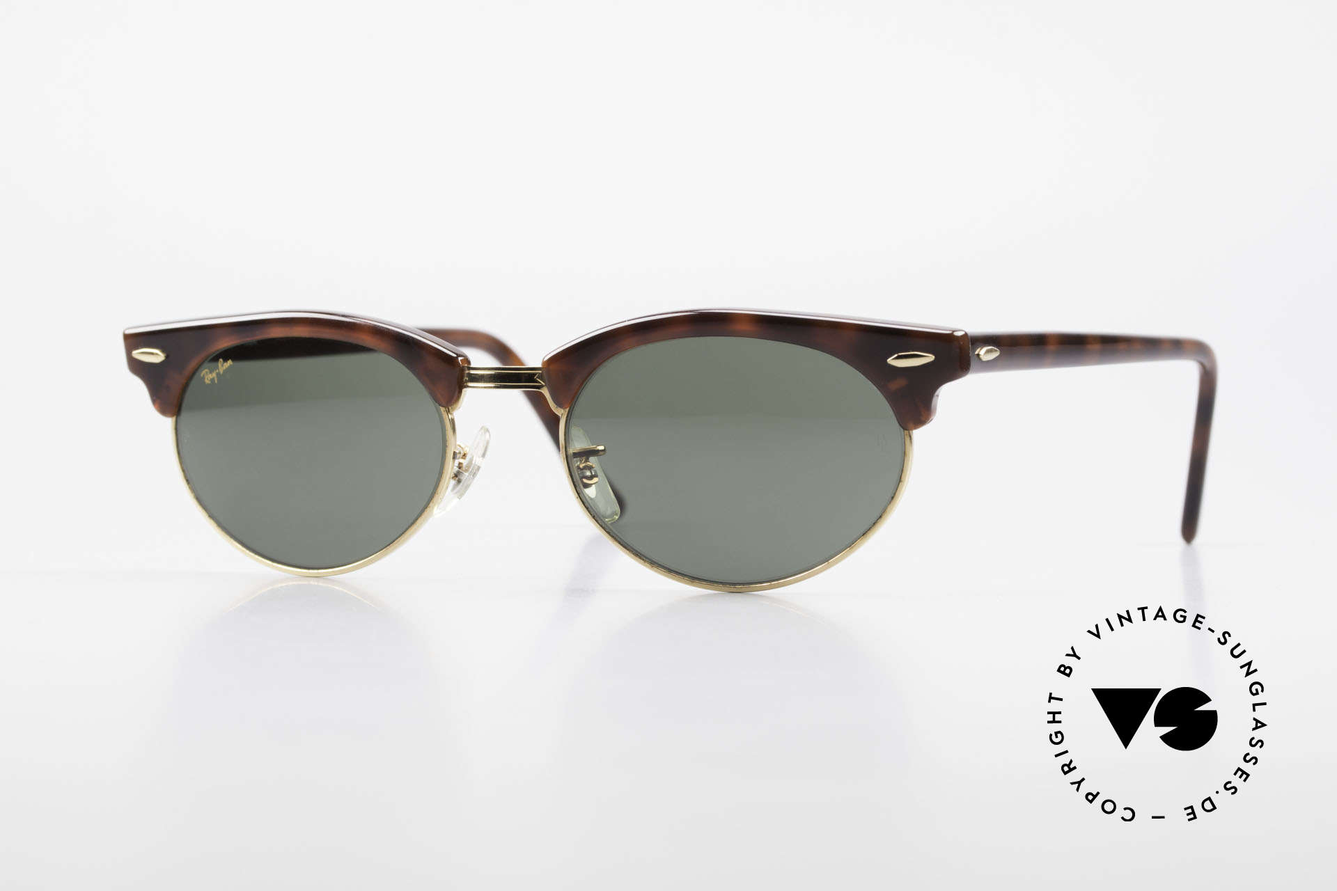 Ray Ban Clubmaster Oval 80's Bausch & Lomb Original, old original 1980's sunglasses by RAY-BAN, USA, Made for Men and Women