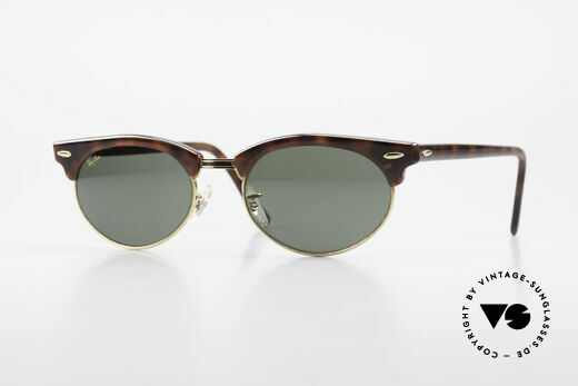 Ray Ban Clubmaster Oval 80's Bausch & Lomb Original Details