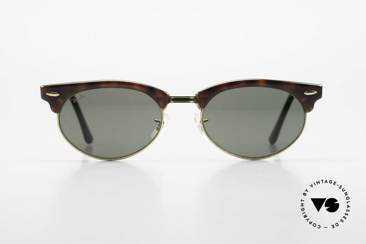 Ray Ban Clubmaster Oval 80's Bausch & Lomb Original, still one of the most popular vintage sunglasses, Made for Men and Women