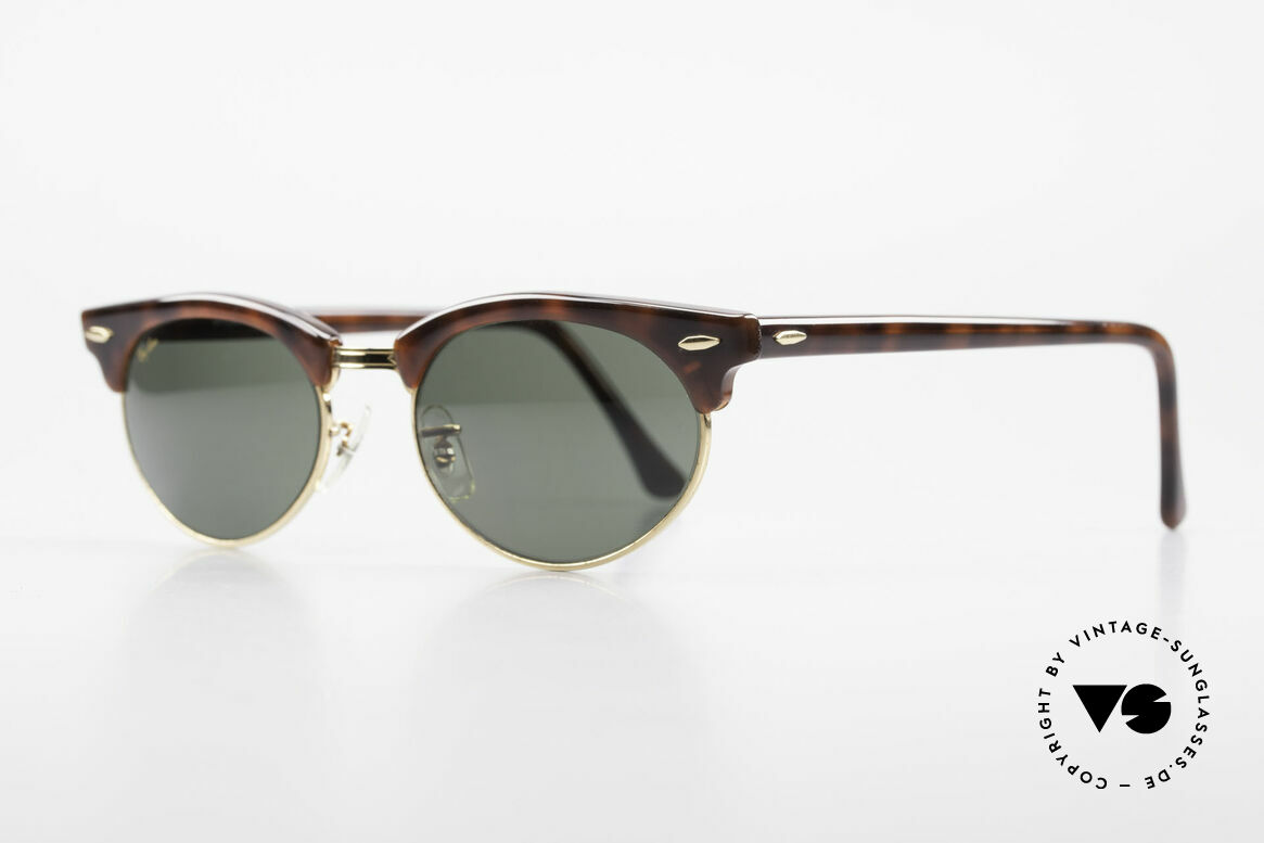 Ray Ban Clubmaster Oval 80's Bausch & Lomb Original, Bausch&Lomb G15 quality lenses; 100% UV prot., Made for Men and Women