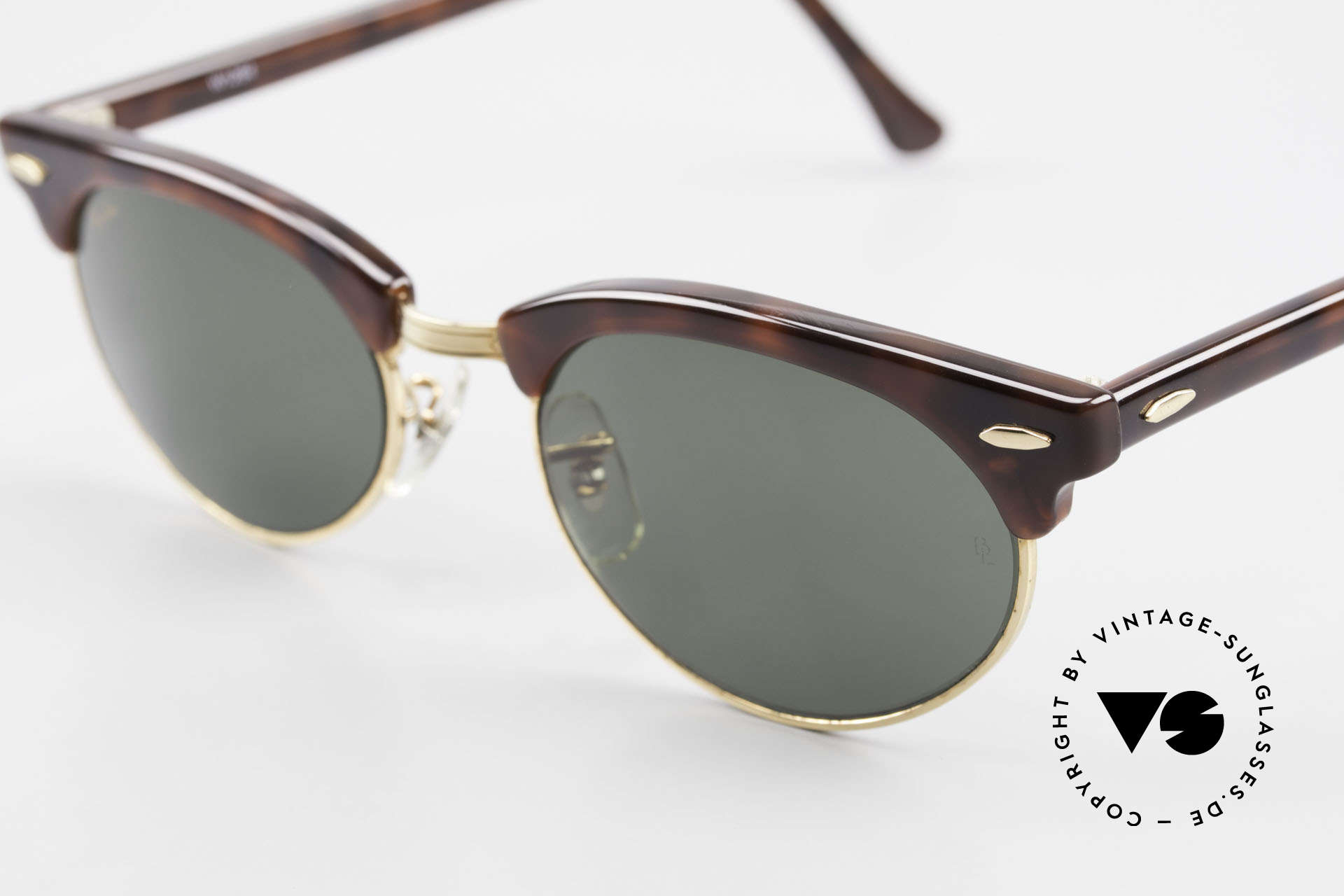 Ray Ban Clubmaster Oval 80's Bausch & Lomb Original, NO RETRO sunglasses, but a 30 years old RARITY, Made for Men and Women