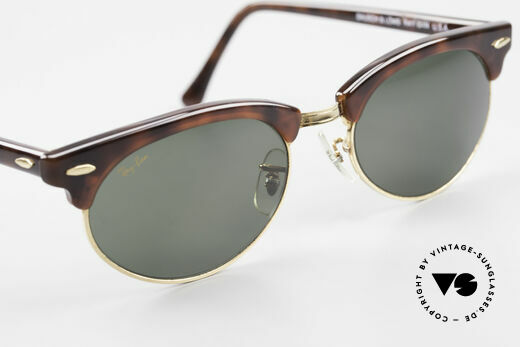 Ray Ban Clubmaster Oval 80's Bausch & Lomb Original, orig. name: Clubmaster Oval, W1264, G-15, 54x19, Made for Men and Women