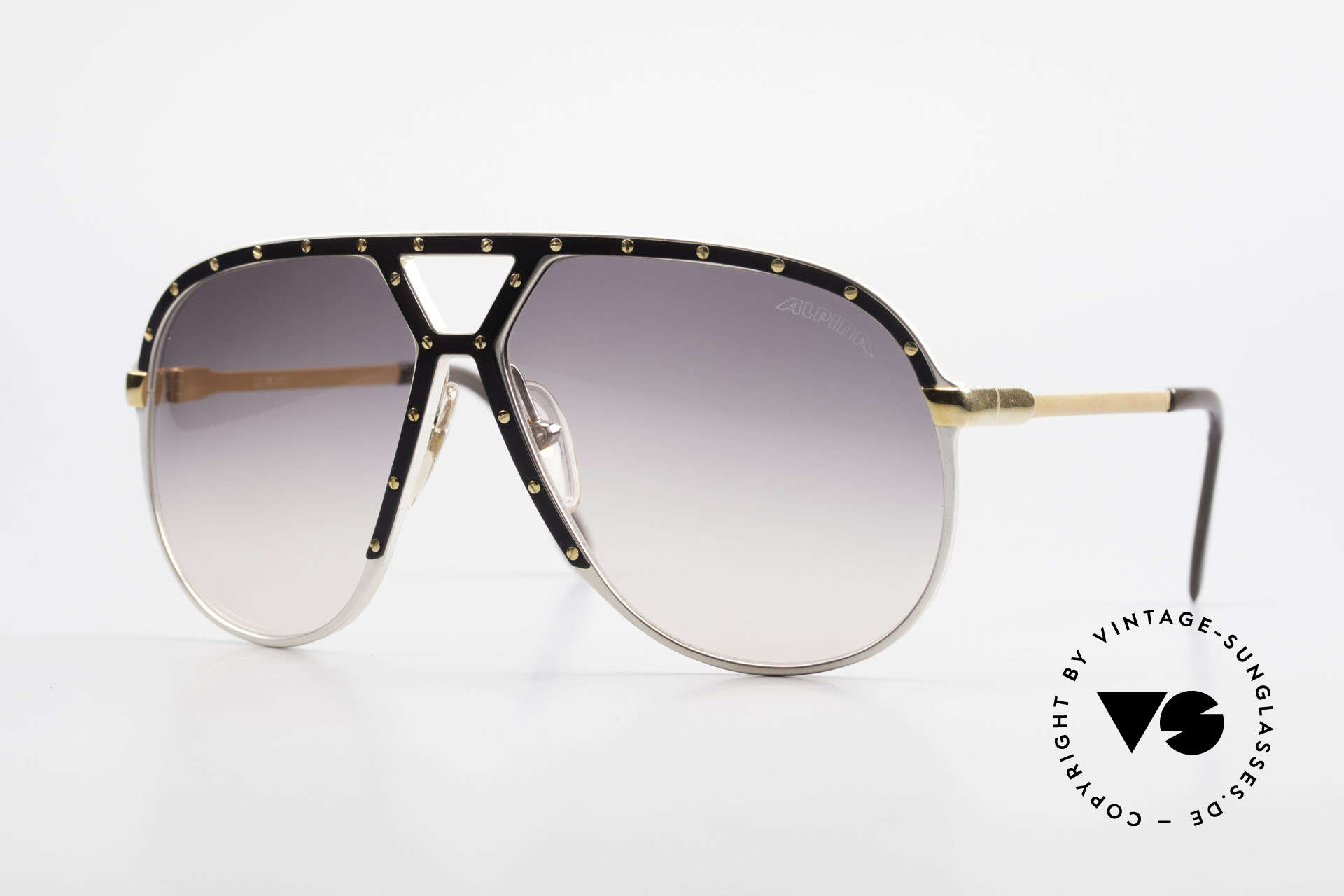Alpina M1 Stevie Wonder 80's Sunglasses, legendary Alpina M1 vintage sunglasses from 1986, Made for Men