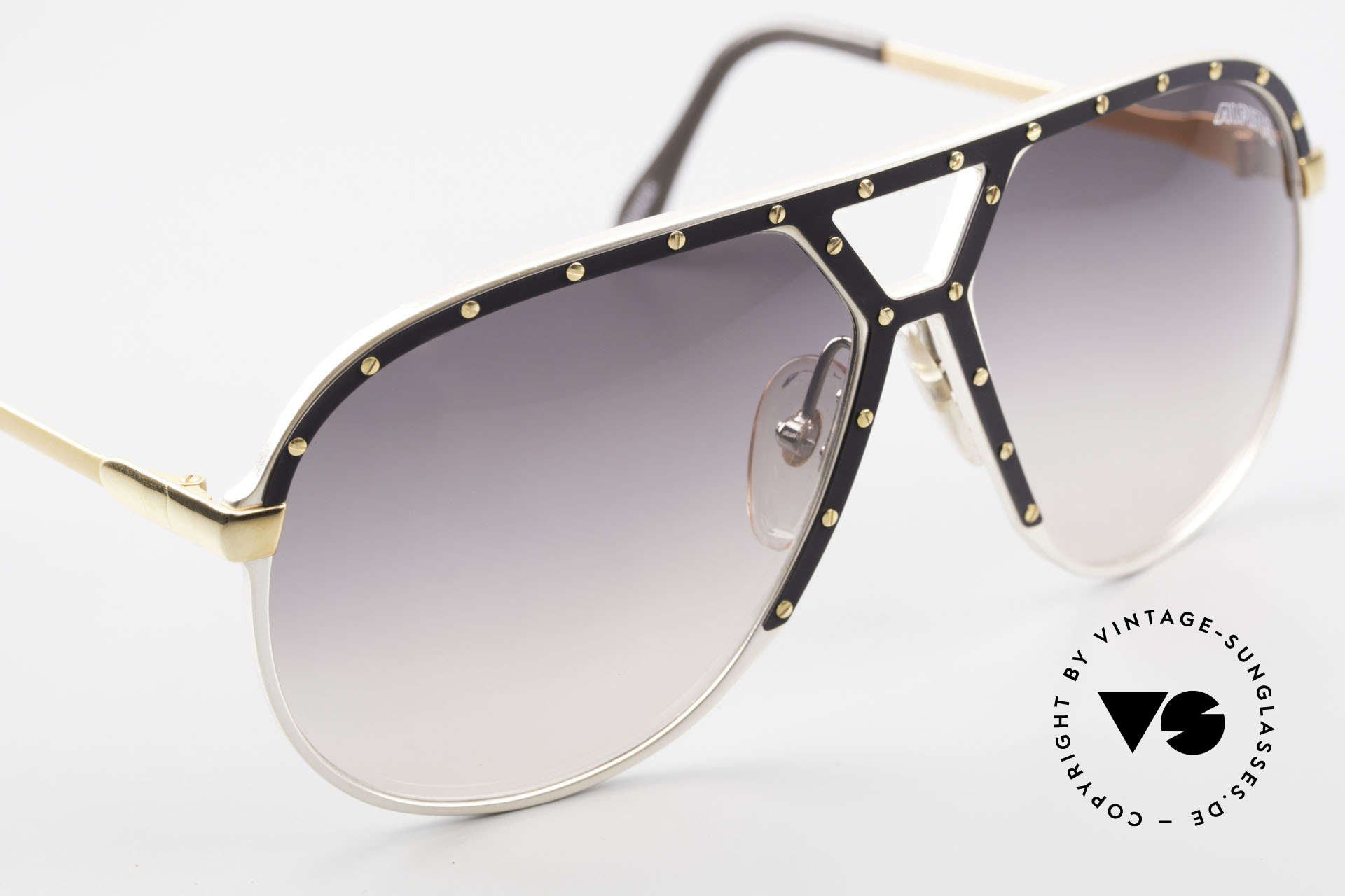 Alpina M1 Stevie Wonder 80's Sunglasses, handmade (West Germany) and in LARGE size 64-14, Made for Men