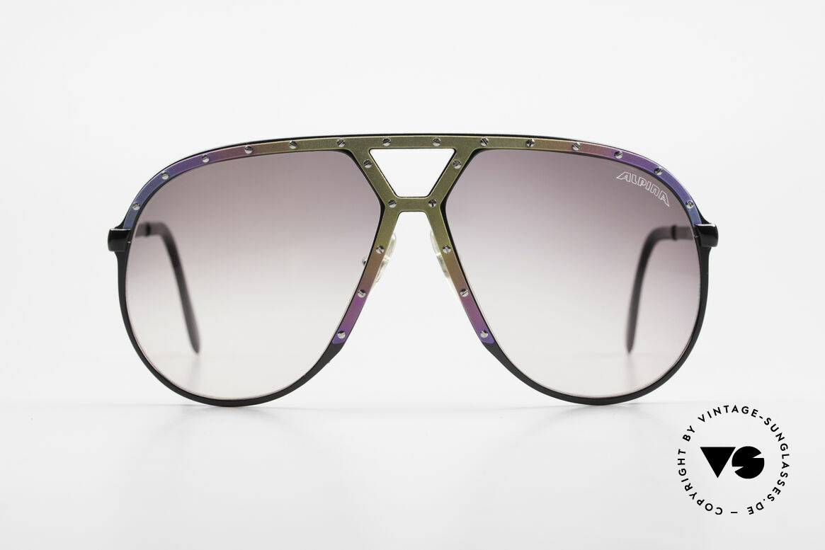 Alpina M1 Titanium 80's Limited Edition, ultra rare sunglasses from 1986 in L size 64-14, Made for Men