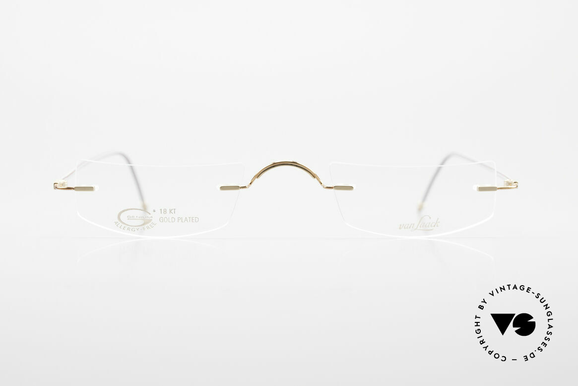 Van Laack L022 Minimalist Reading Eyeglasses, unisex model: L022, 48/24, 140, 18CT gold-plated, Made for Men and Women