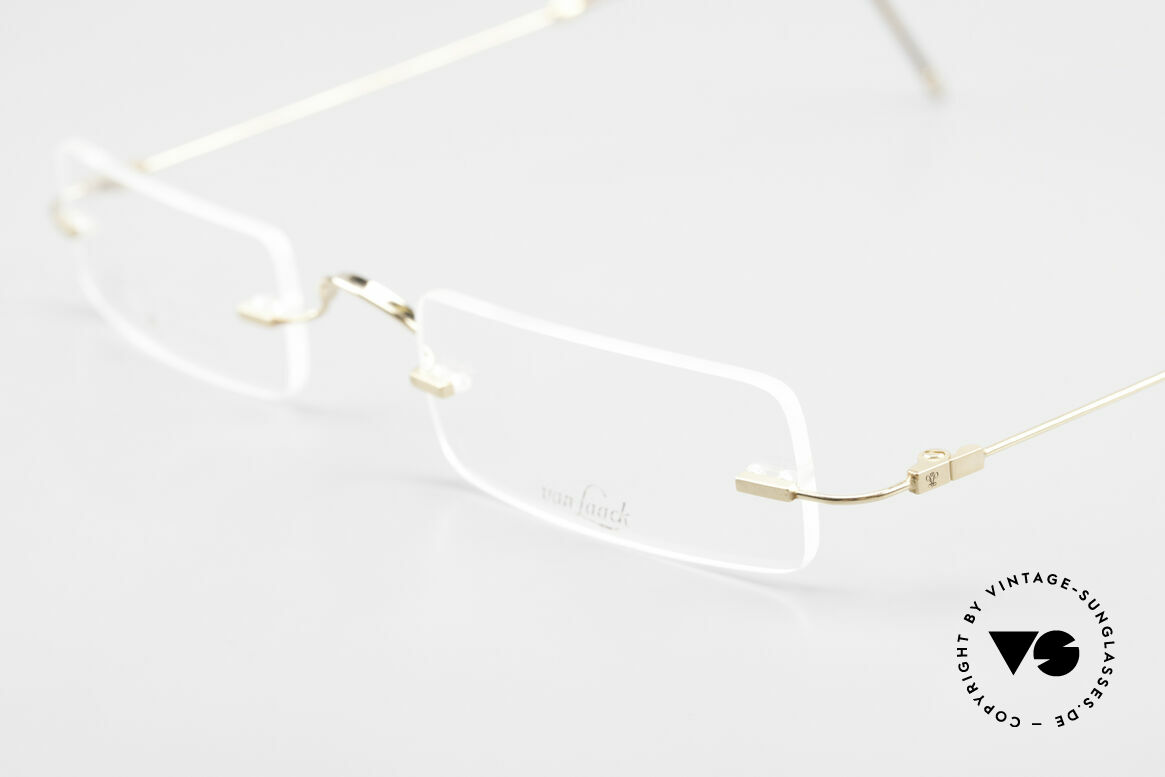 Van Laack L021 Minimalist Reading Glasses 90s, unworn unisex model (simply classic and timeless), Made for Men and Women