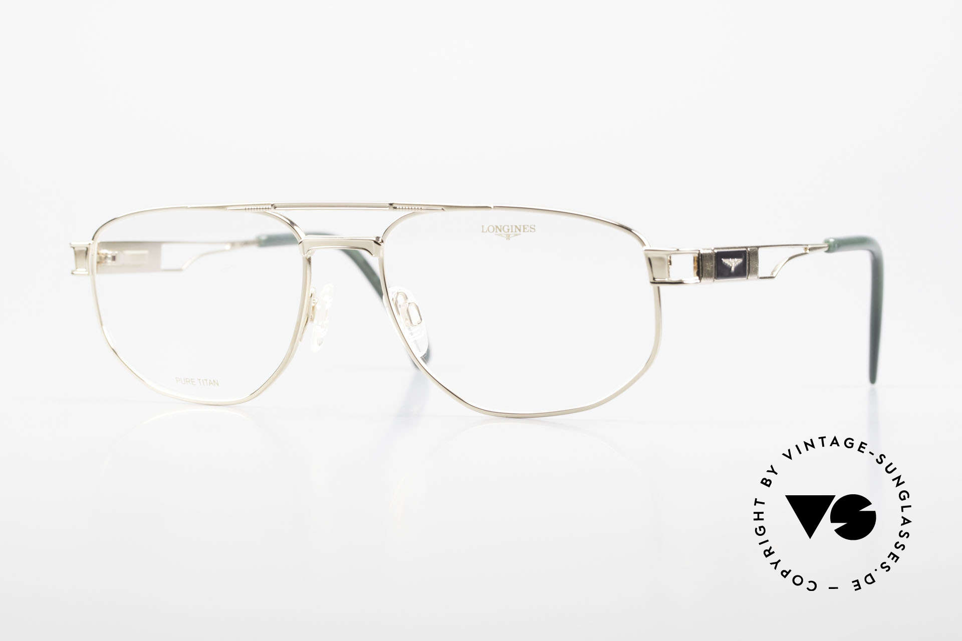 Longines 4555 90's Men's Glasses Pure Titan, Longines Men's Eyeglasses, mod. 4555, size 58/18, 140, Made for Men