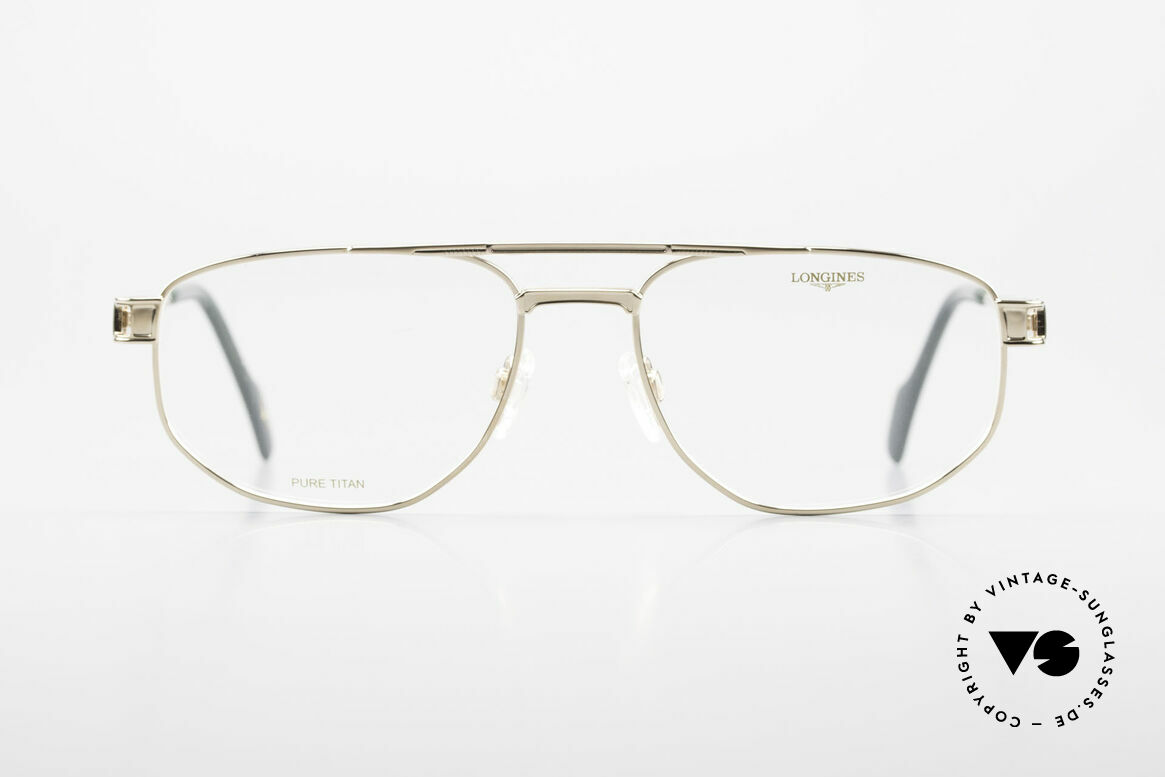 Longines 4555 90's Men's Glasses Pure Titan, very noble vintage glasses of the 1990's, Pure Titanium, Made for Men
