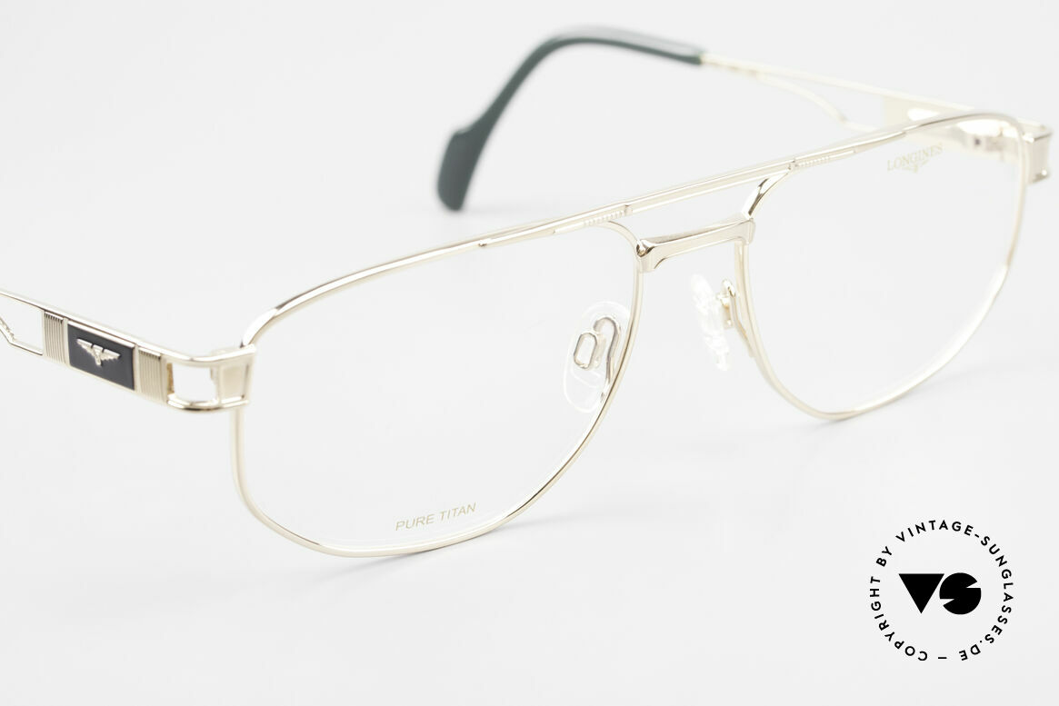 Longines 4555 90's Men's Glasses Pure Titan, unworn, one of a kind (like all our rare vintage frames), Made for Men