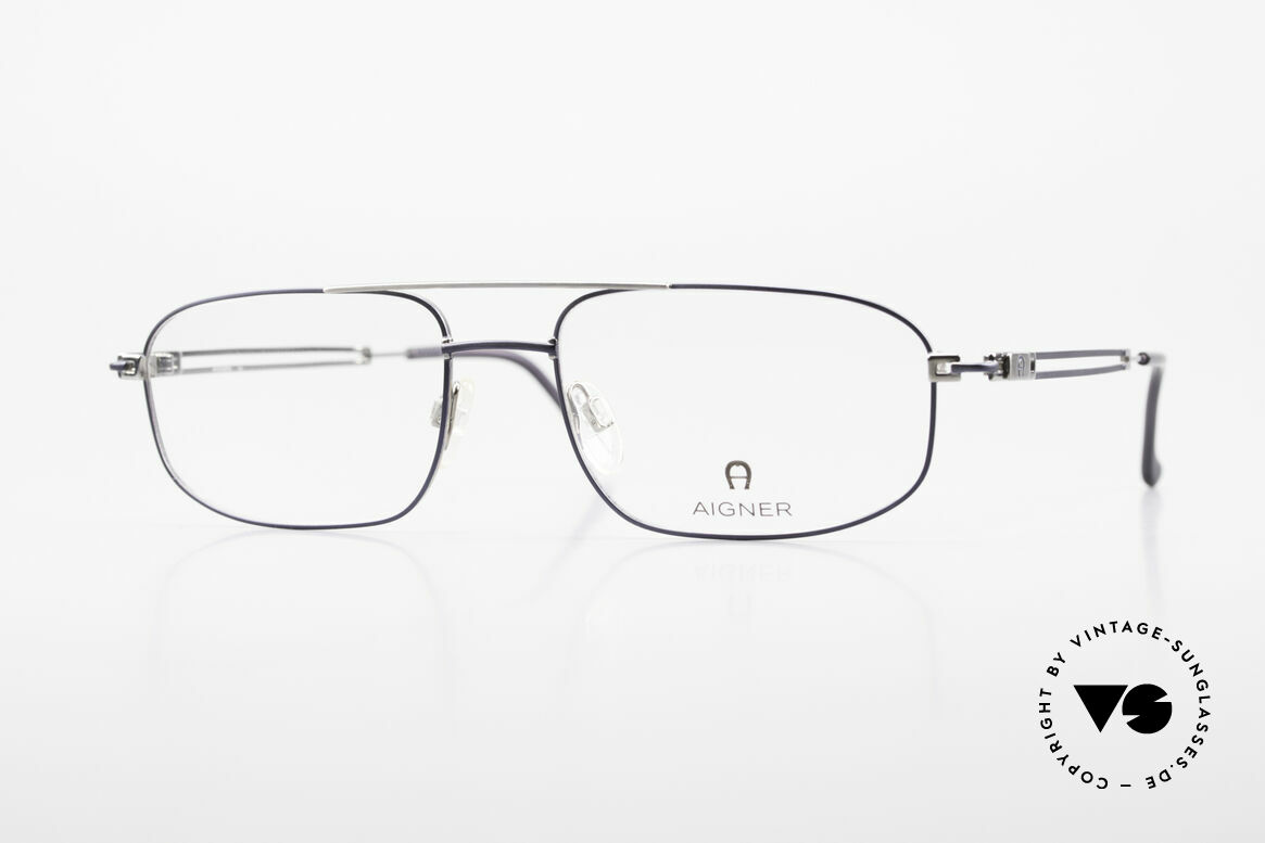 Aigner EA9111 90's Men's Eyeglasses Metal, men's metal glasses by AIGNER, EA9111, size 56/18, 140, Made for Men