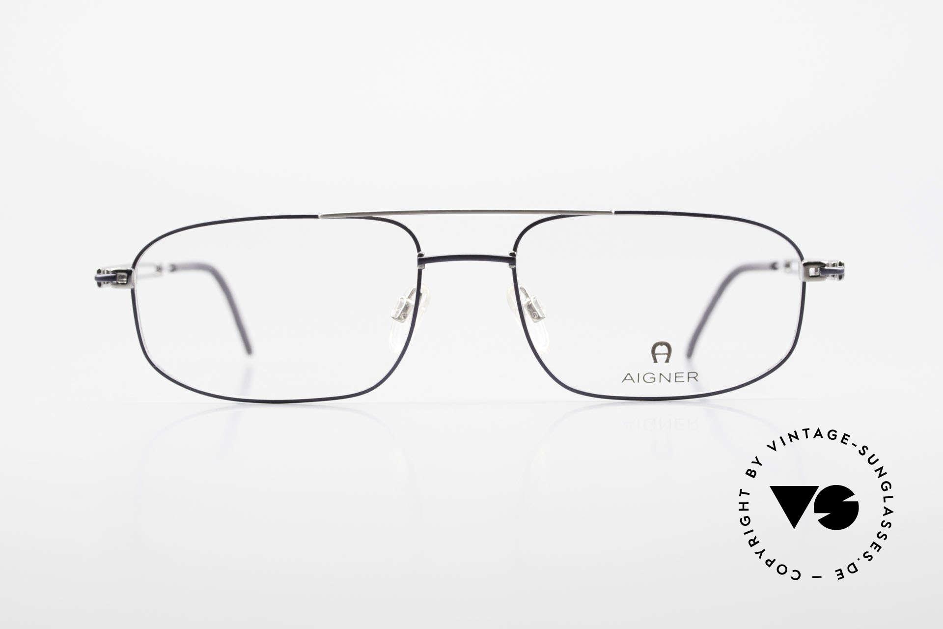 Aigner EA9111 90's Men's Eyeglasses Metal, 90's original Aigner eyewear in cooperation with Metzler, Made for Men