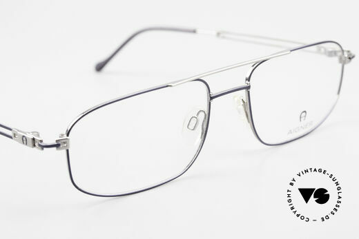 Aigner EA9111 90's Men's Eyeglasses Metal, DEMO lenses can be replaced optionally (optical / sun), Made for Men