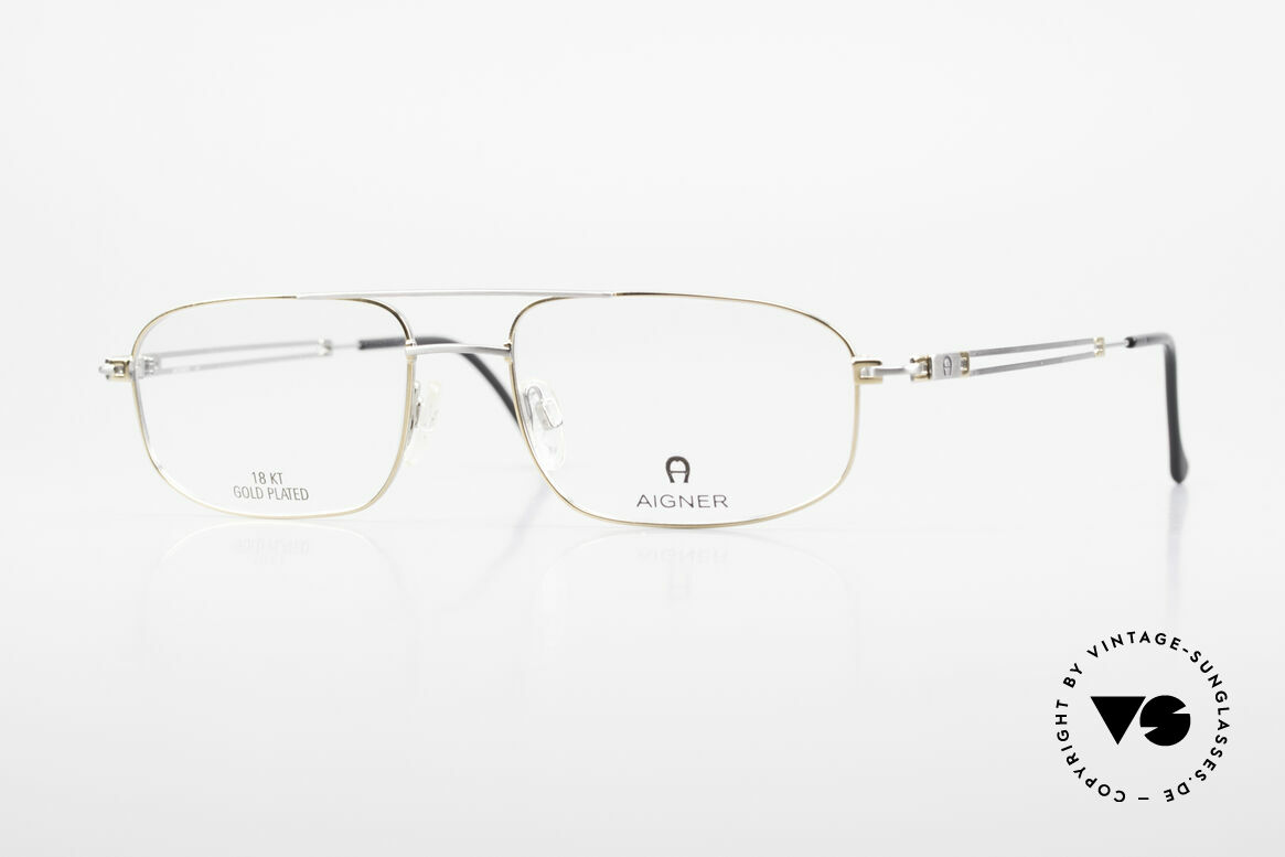 Aigner EA9111 90's Men's Frame Gold Plated, Gold-Plated glasses by AIGNER, EA9111, size 56/18, 140, Made for Men
