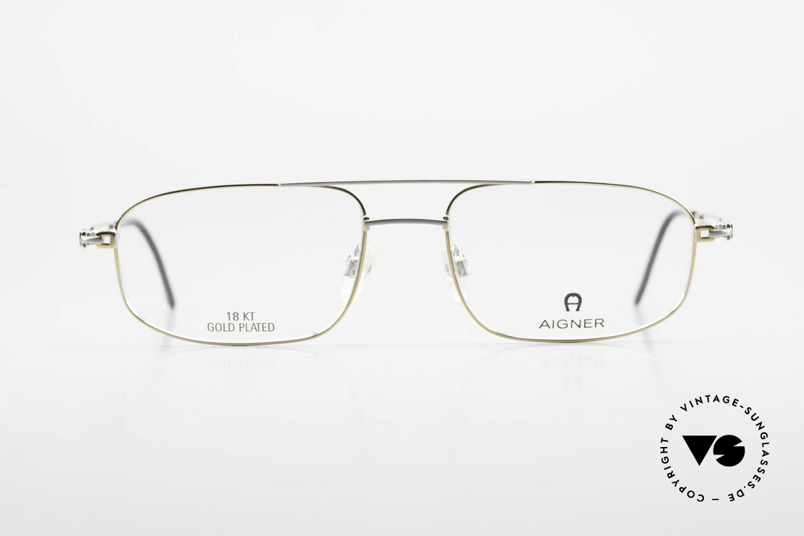 Aigner EA9111 90's Men's Frame Gold Plated, 90's original Aigner eyewear in cooperation with Metzler, Made for Men