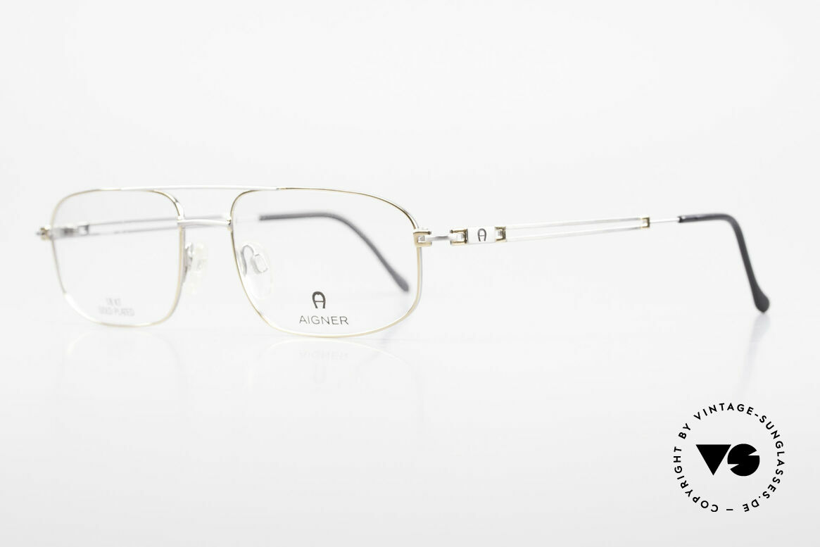 Aigner EA9111 90's Men's Frame Gold Plated, top-notch quality and very pleasant to wear; lightweight, Made for Men