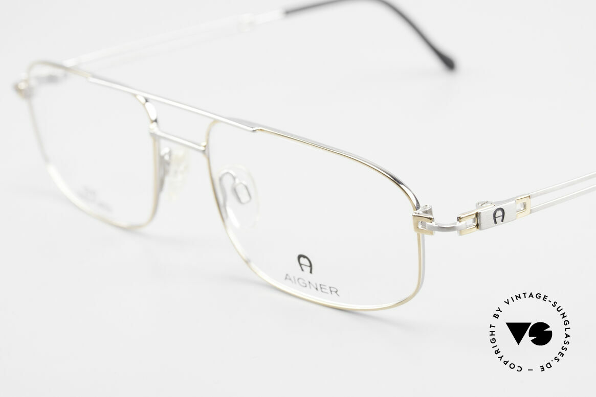 Aigner EA9111 90's Men's Frame Gold Plated, unworn (like all our precious 18ct GOLD-PLATED frames), Made for Men