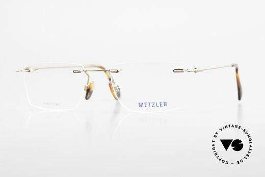 Metzler 1484 Rimless Vintage Glasses Titan Details