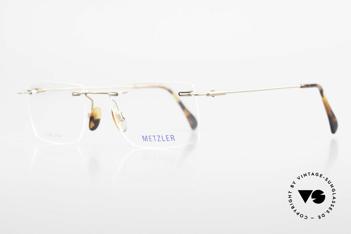 Metzler 1484 Rimless Vintage Glasses Titan, top-notch quality and very pleasant to wear; lightweight, Made for Men
