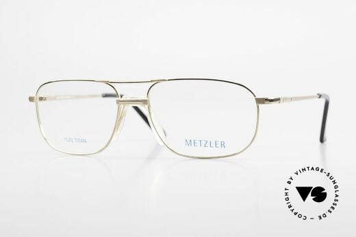 Metzler 1714 Classic Men's Glasses Titan Details