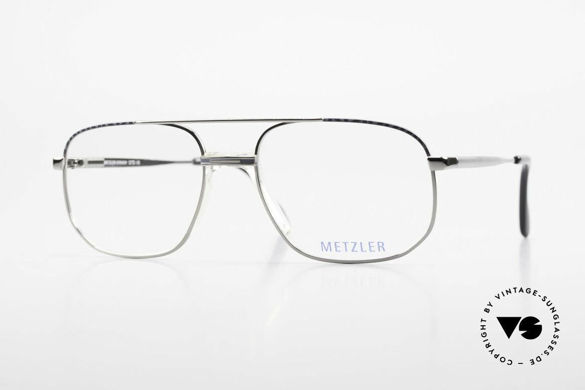 Metzler 7538 Metal Frame With Saddle Bridge, Metzler eyeglasses 7538, col 519, size 56/18, 140, Made for Men