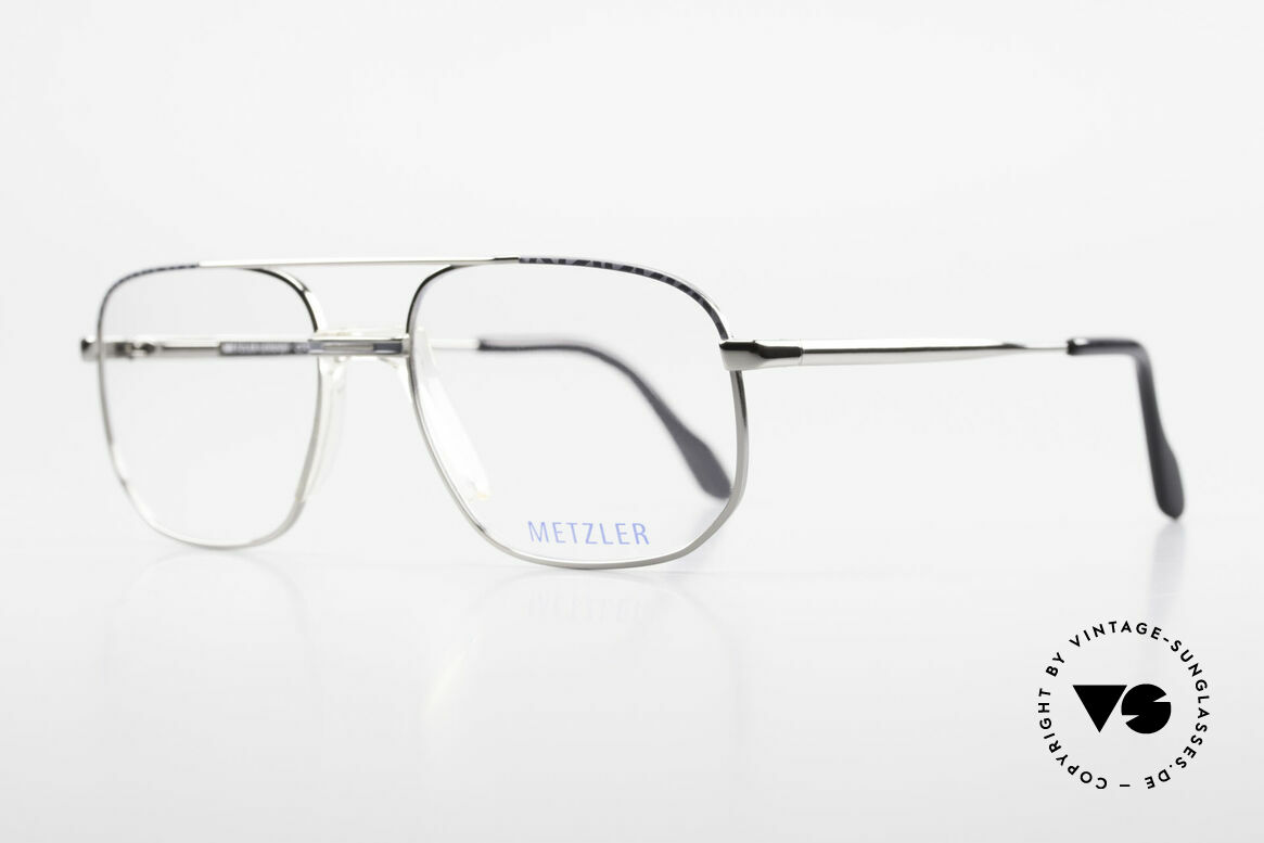 Metzler 7538 Metal Frame With Saddle Bridge, sturdy glasses for men, 'made in Germany' quality, Made for Men