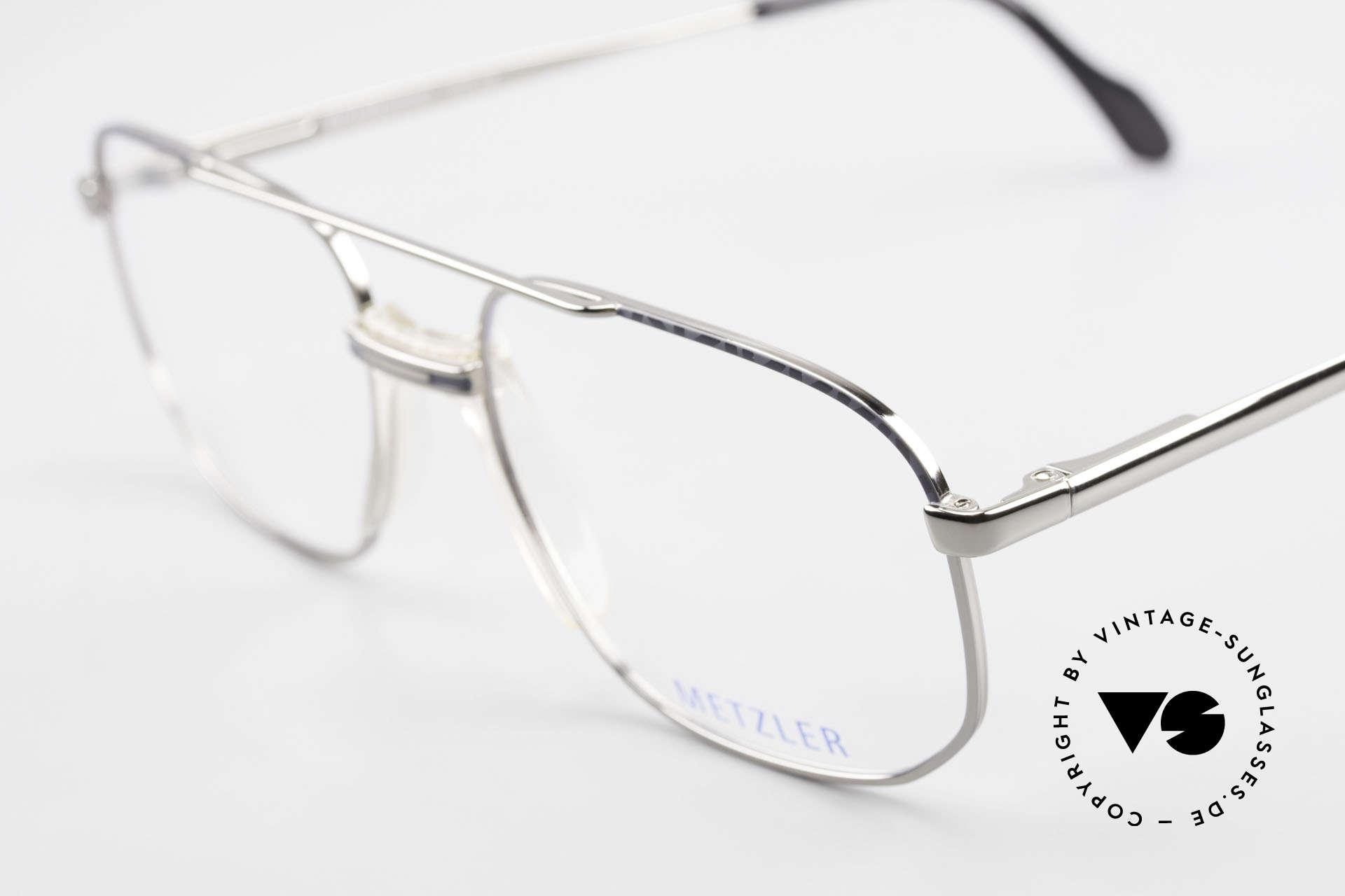 Metzler 7538 Metal Frame With Saddle Bridge, unworn (like all our rare vintage 90's eyeglasses), Made for Men