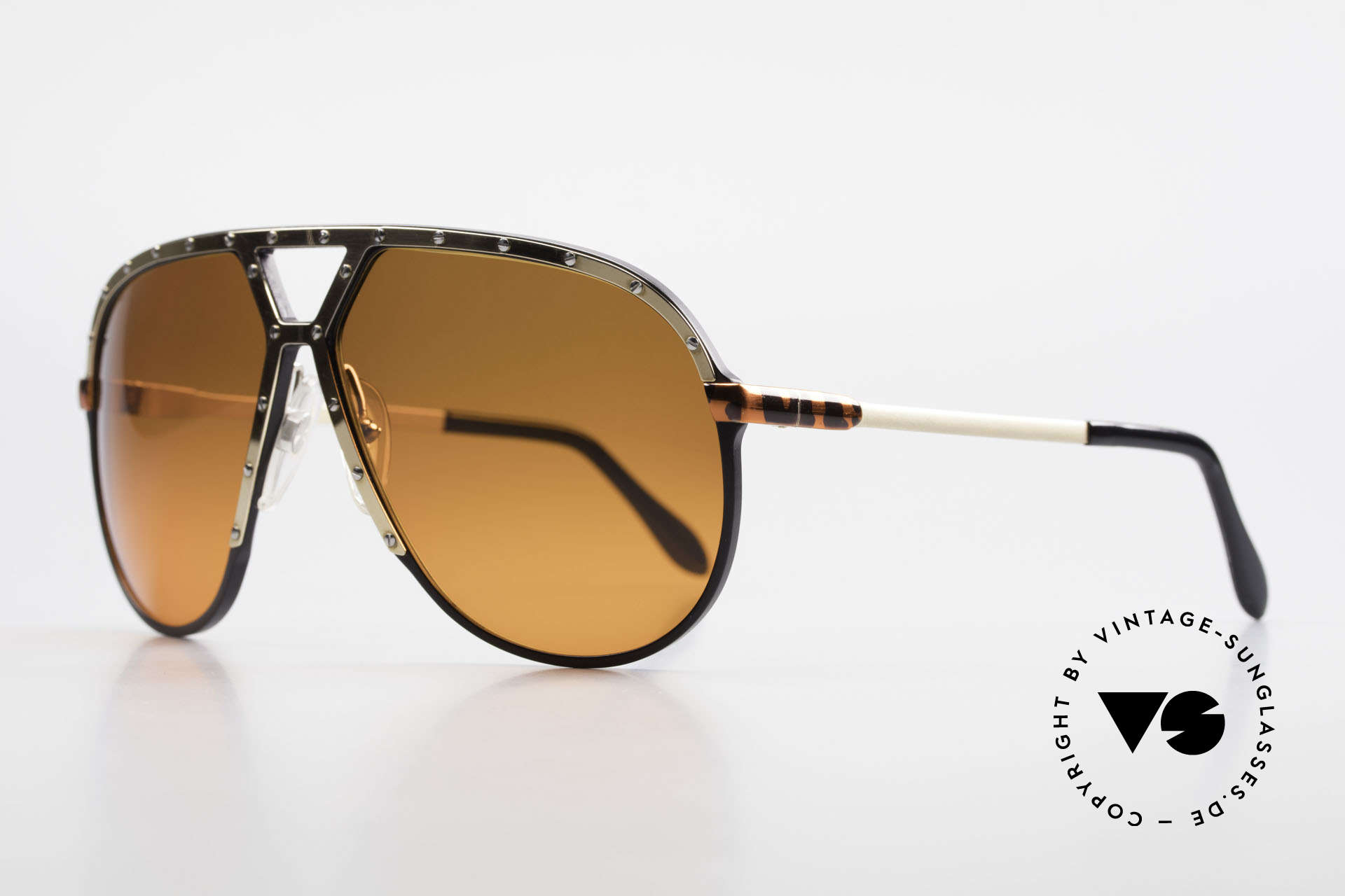 Alpina M1 80s Shades Customized Edition, with customized orange sun lenses; one of a kind, Made for Men