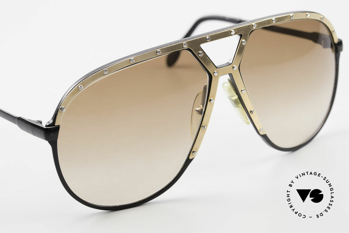 Alpina M1 Old 80's Frame No Retro Shades, unworn collector's item comes with a Bvlgari case, Made for Men