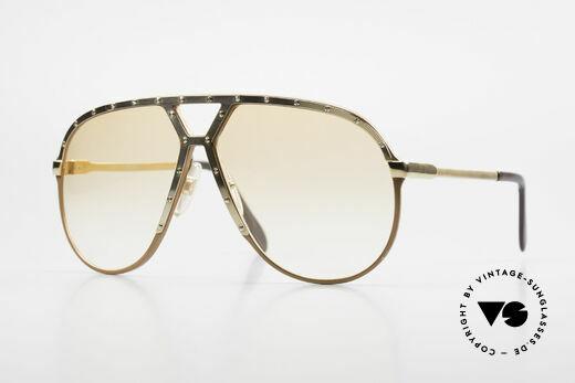 Alpina M1 Rare 80's Sunglasses Orange Details