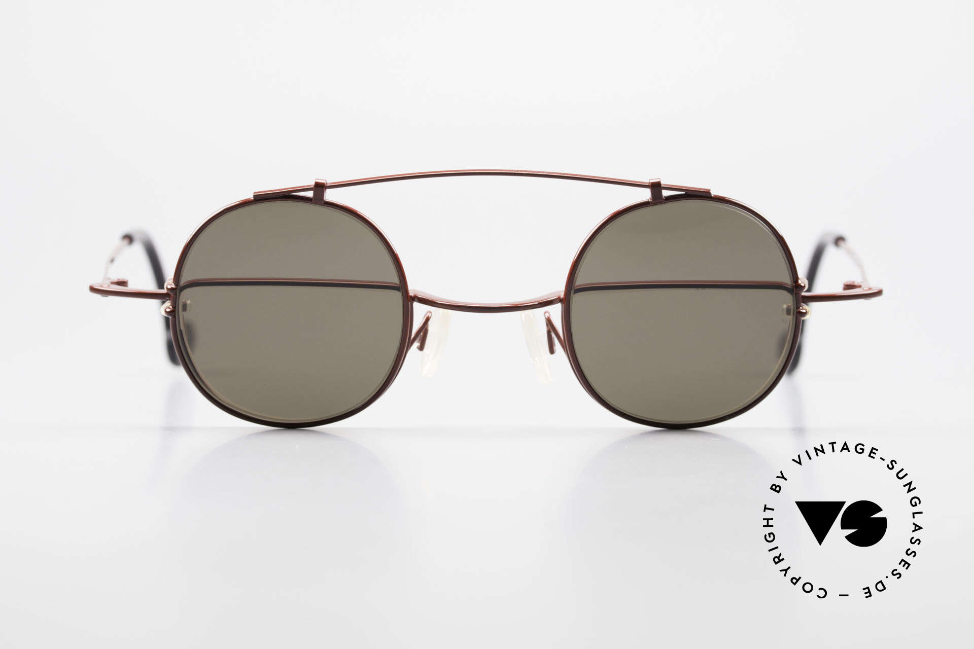 Theo Belgium Gordon Reading Glasses With Clip On, classic reading glasses with round-shaped CLIP-ON!, Made for Men and Women