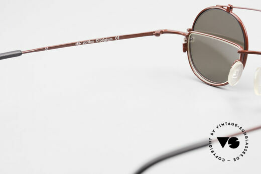 Theo Belgium Gordon Reading Glasses With Clip On, NO RETRO eyewear, but an over 20 years old ORIGINAL, Made for Men and Women
