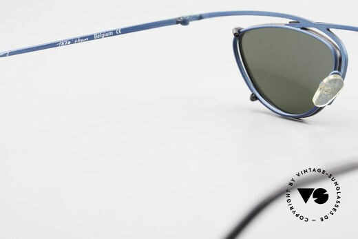 Theo Belgium Rhum Designer Glasses With Clip On, NO RETRO eyewear, but an over 20 years old ORIGINAL, Made for Men and Women